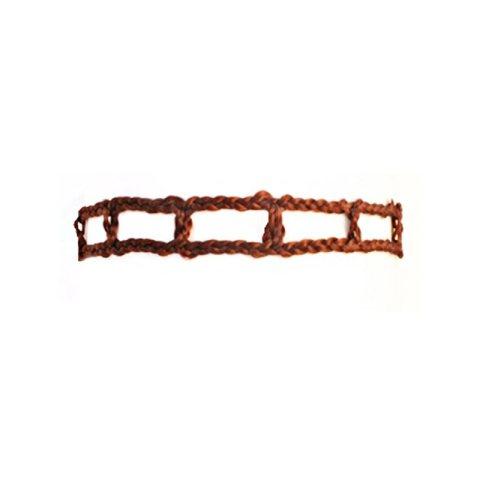 Haarband aus Haar - Kastanienbraun