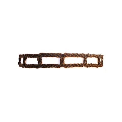 Haarband aus Haar - dunkelbraun