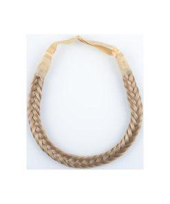 Haarband mit Gummiband aus geflochtenem Kunsthaar mittelblond