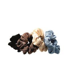Haarrüsche mit Gummizug gerafft in mehreren Farben
