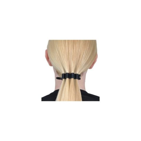 Haarspange Kunststoff schwarz gewellt