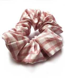 Scrunchie Karo rosa