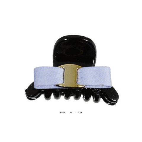 kleine Haarklammer mit Schleife schwarz bleu