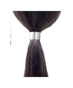 Zopfhalter Metall breit mit Magnetverschluss und innenliegendem Gummi silber