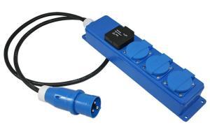 Quatro-unit + USB socket + 1,5m neop. 3×1.5mm²