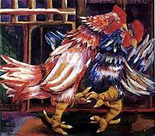Mariano Rodríguez: Pelea de gallos (1942)