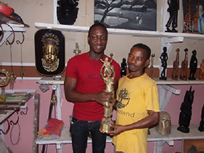 Bubemi Ekengbuda with Bronze Caster Omoruyi Igbinosa