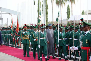 buhari arrives nigeria
