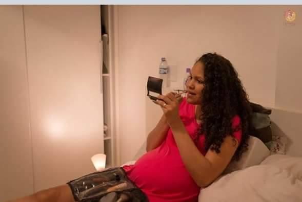 mother Applying Make-up after delivery