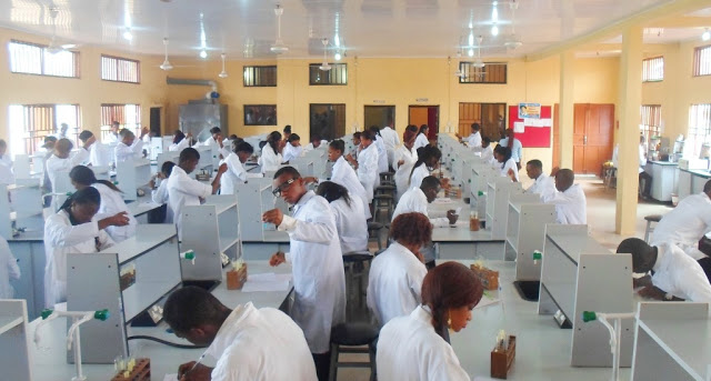 medical students in the laboratory