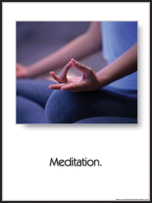 Yoga Inspirational Poster: Meditation