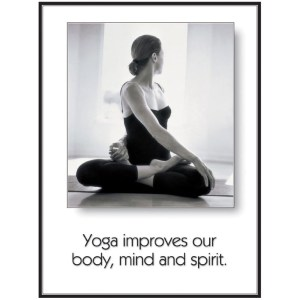 Yoga Body, Mind and Spirit Poster