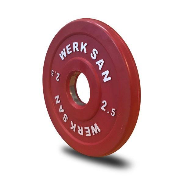 2.5SCRT01-2.5kg Coloured Rubber Training Plates