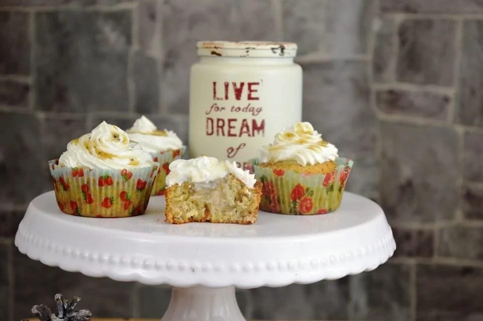 Apfel Walnuss Cupcakes