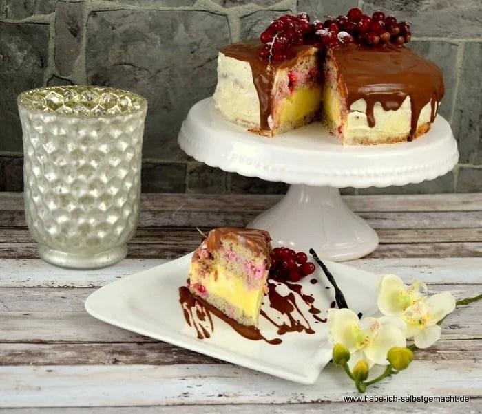 Bayrisch Creme Johannisbeer Torte