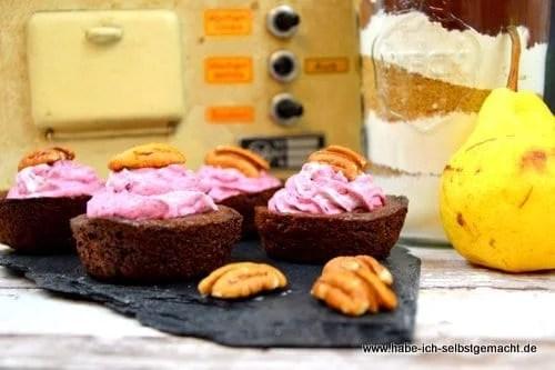 Schoko Birne Pekannuss Muffins