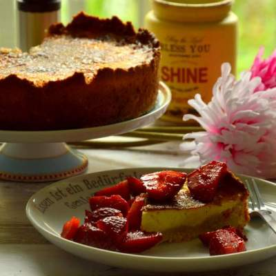 Fantastische Crème Brulée Tarte mit Beeren