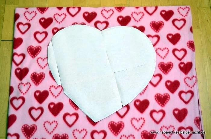 Anleitung für ein selbst genähtes Herz Kissen - Habe ich selbstgemacht