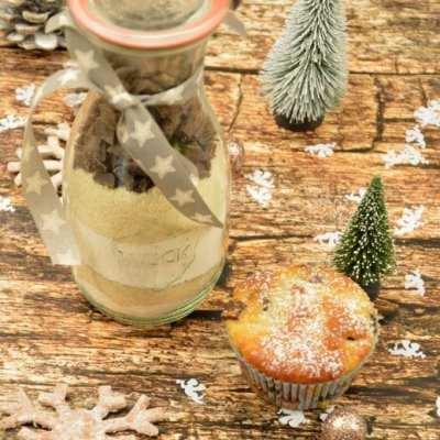 Kirsch Schoko Stollen Muffins – Backmischung selber machen