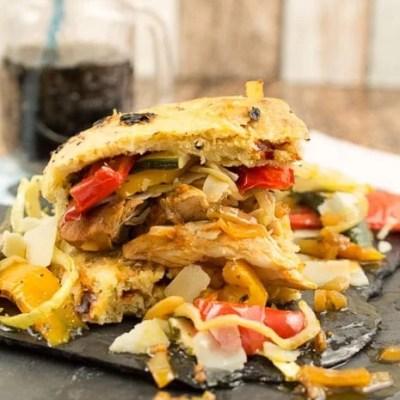 Italienischer Pulled Chicken Burger