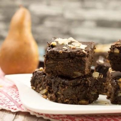 Gesunde Birnen Haselnuss Brownies