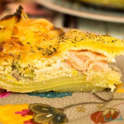 Kartoffel Lachs Quiche mit Brokkoli – glutenfrei
