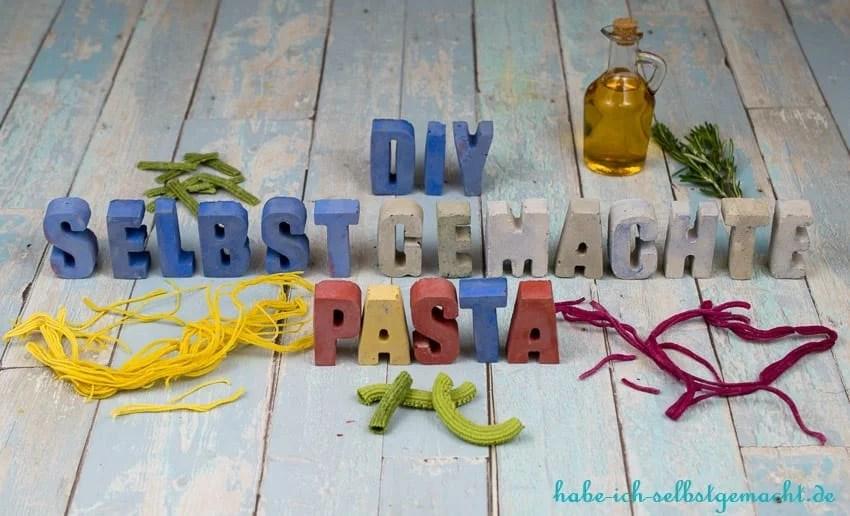 DIY Rezepte für Selbstgemachte Pasta und Nudeln