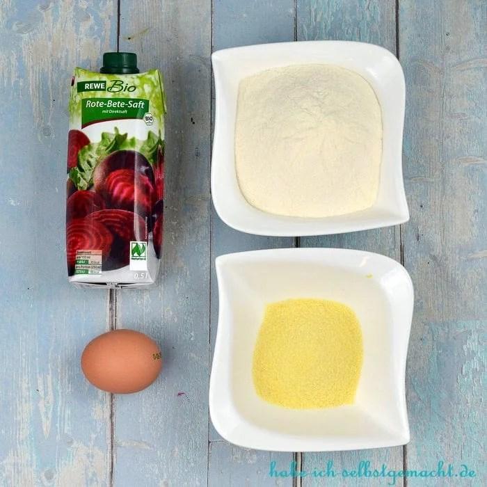 Test Philips Pastamaker - Zutaten für Rote Beete Pasta