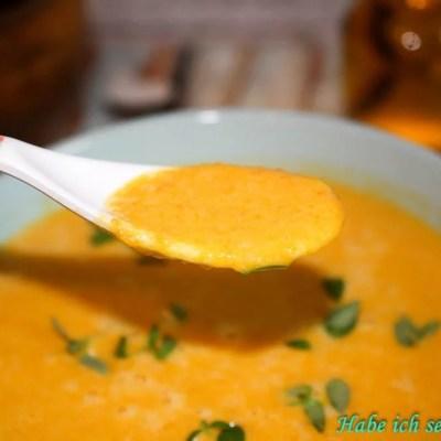 Kokos Karotten Ingwer Suppe