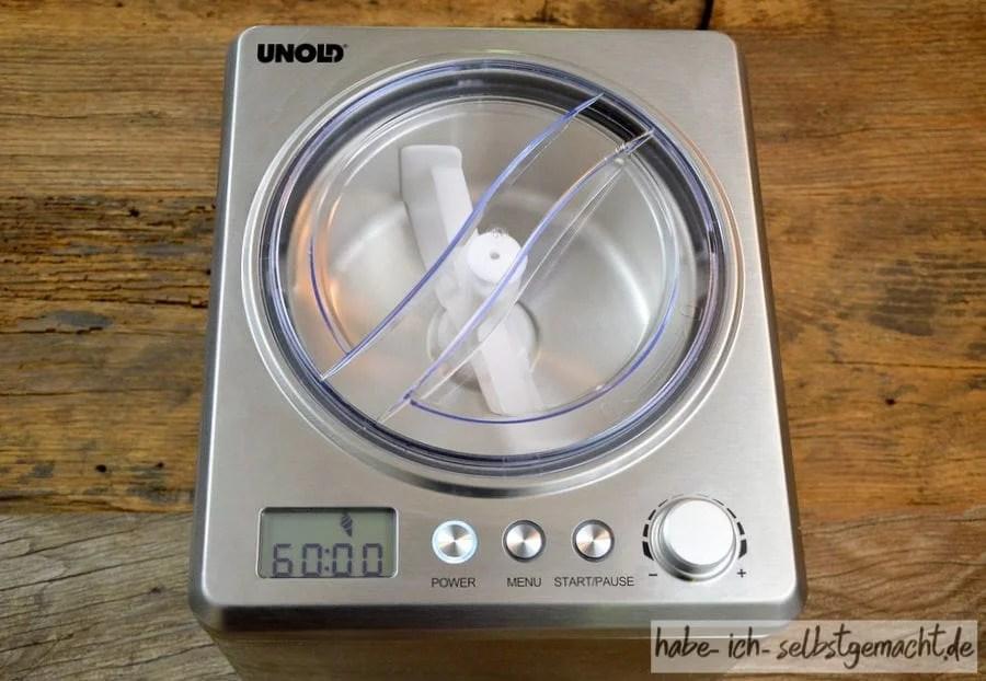 Test Unold Eismaschine Profi - Die Maschine