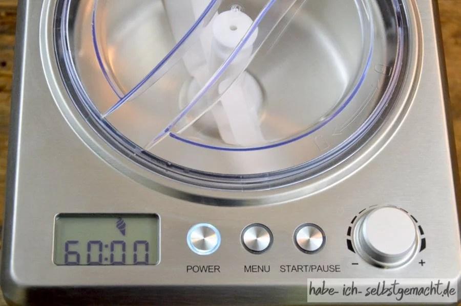 Test Unold Eismaschine Profi - Digitale Anzeige und einfache Bedienung