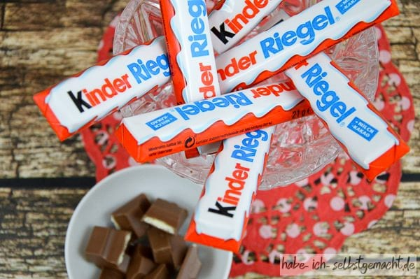 Kinderschokolade für Kinderschokolade-Eis