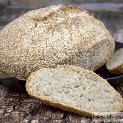 Weizenbrot mit Sesam (Sesambrot)