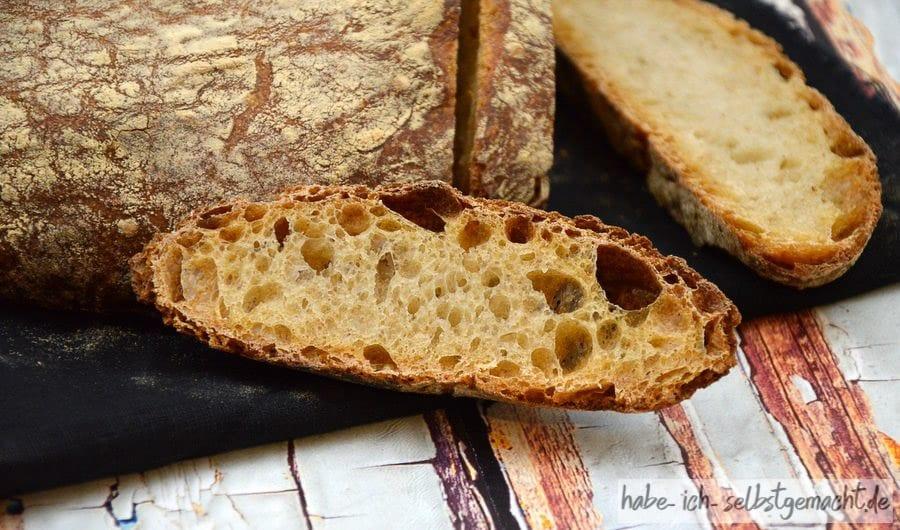 Weizen Sauerteig Brot mit toller Krume
