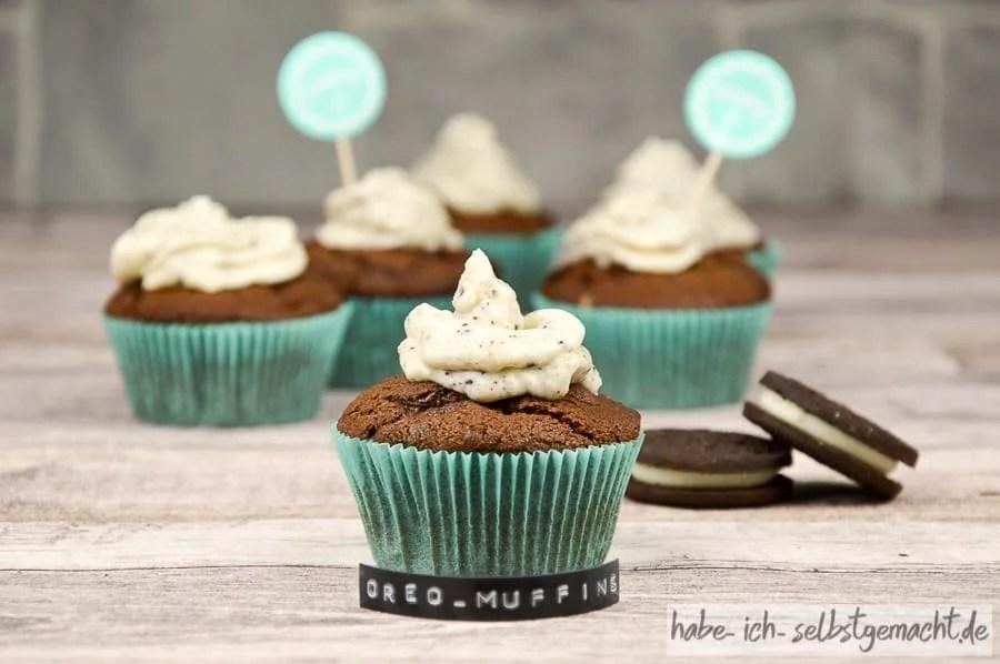 Saftige Oreo Muffins Auch Als Backmischung Im Glas Mit Etikett Zum