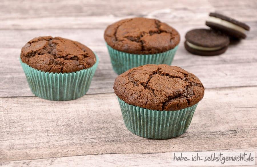 Fertige Oreo Muffins