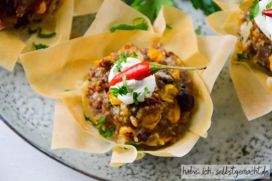 Scharfes Chili con Carne Muffin