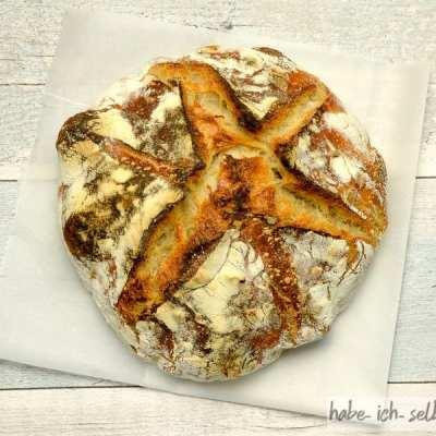 Französisches Weizenbrot mit Sauerteig und Hefe 2