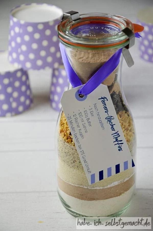 Fertige Backmischung mit Etikett
