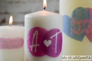 DIY Valentingstagsgeschenk - Selbst bedruckte Kerzen