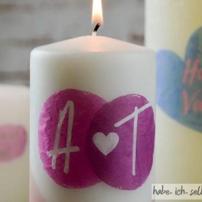 DIY Geschenk zum Valentinstag – Bedruckte Kerzen