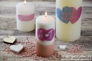 Individuelles Valentinstags-Geschenk: Selbst bedruckte Kerzen