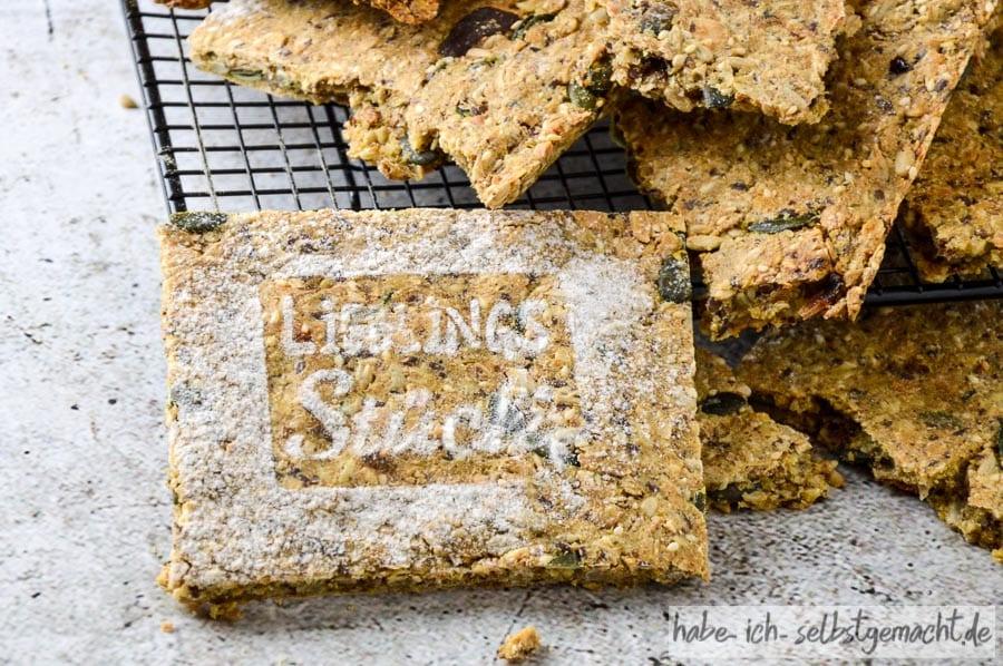 Brot #25 - Das beste Knäckebrot der Welt - auch als Backmischung im Glas zum Verschenken