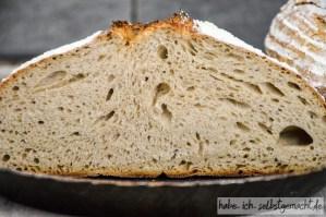Weizenmischbrot mit Roggen und Sauerteig