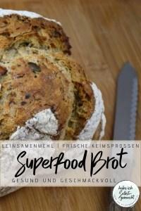 Superfood Brot mit frischen Keimsprossen Rezept