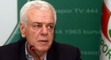 Bursaspor Başkanı Ay camiaya seslendi: Haydi maça