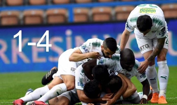 K.Karabükspor 1– 4 Bursaspor