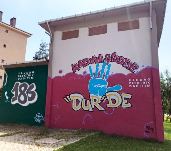 Şehrin duvarlarında sosyal mesaj