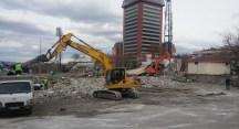Tower Plaza'da yıkım öncesi tahliye süreci başladı