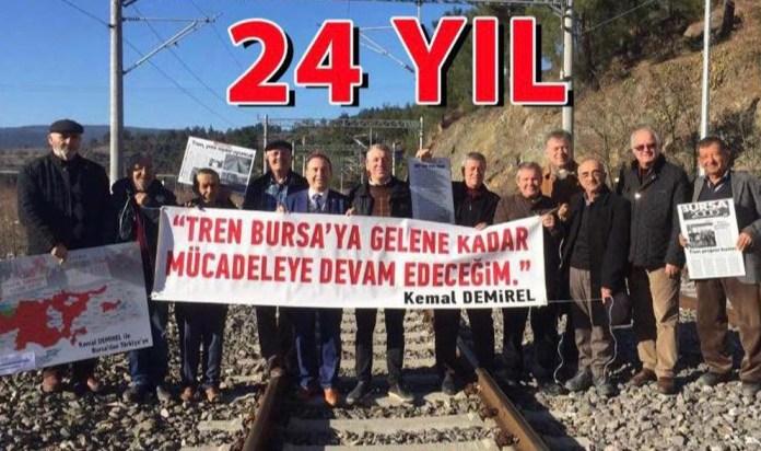 Demirel sordu: Bursalılar 2023'te trene binebilecek mi?